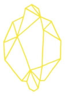 citron origami jaune